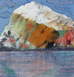 Rock by Vasilis Kypraios, 2017 exhibit Patmos, contemporary greek art, artist, greece, culture